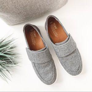 TOMS Altair Wool Felt Velcro Slip On Sneakers